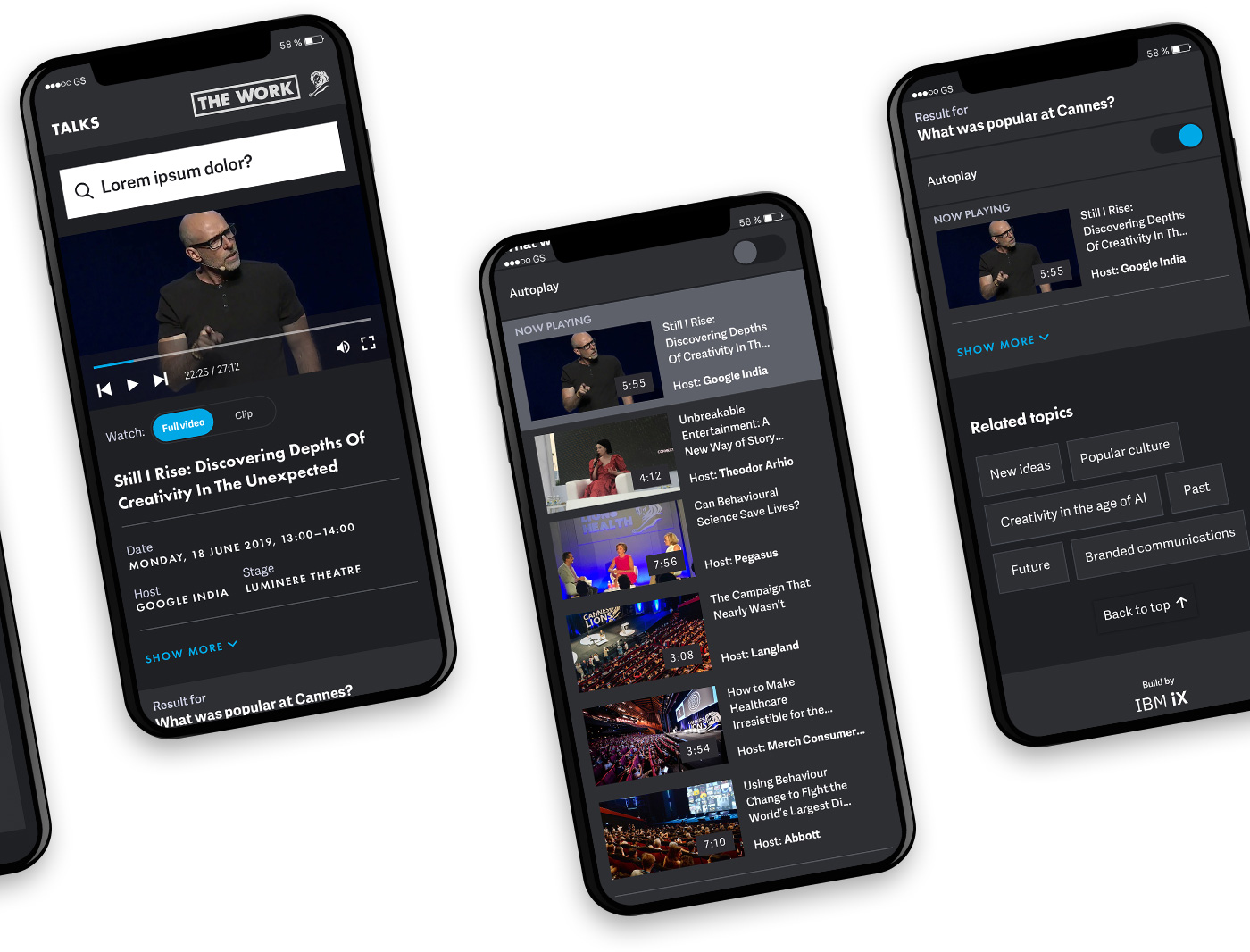 Mobile designs of video player